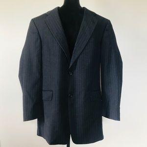 Hart Schaffner Marx Blazer Wool Charcoal Pinstripe